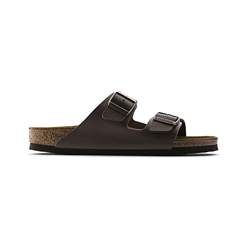 Suede Sandals Birkenstock (Birkenstock Arizona Women's Dark Brown Birko-Flor Sandal 38/Women's US Size 7-7.5)