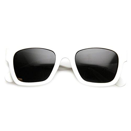 zeroUV - Designer Inspired Hispter Fashion Rubber Finish Bold Horn Rimmed Sunglasses - Glasses Hispter