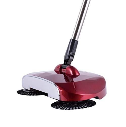 Aspiradora potente Escobilla de polvo de escoba fina Conjunto de tipo de empuje manual de limpieza de la máquina de barrido...