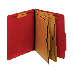 Moisture Resistant Classification Folders (Pendaflex(R) Color Moisture-Resistant 6-Fastener Classification Folders, 2in. Expansion, Letter Size, Dark Red, Box Of 10)