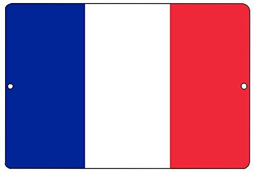 LONF Rogue River Tactical French Flag Metal Tin Sign Wall Decor Man Cave Bar France -