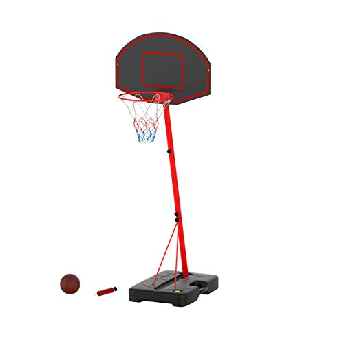 Hey! Play! Junior Basketball Hoop- Portable Backboard System with Two Rim Height Settings, 7