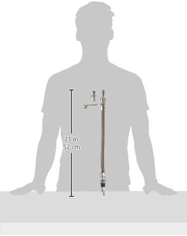 Lokar 1213134 Anchor-Tight Brite Transmount Transmission Dipstick with Lock for TH-400 Transmission