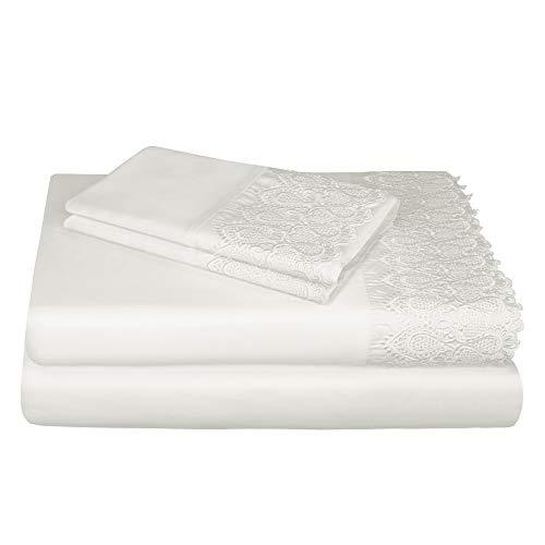AURAA Smart 1400 Thread Count Cotton Rich, 4 Piece Sheet Set, King Sheets, 16