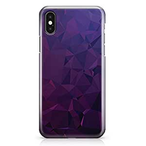 iPhone X Case Dark Purple Geomaterical Pattern 2 Tough Modern Wrap Around iPhone 10 Case