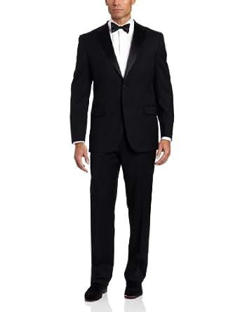 Joseph Abboud Men's 2 Button Side Vent Tuxedo With Flat