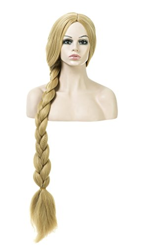 Womens Costume Halloween Party Cosplay Emulation Scalp Full Head Wig (Yellow Tangled-ZU16908) (Womens Costumes)