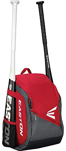Easton Game Ready Youth Baseball Backpack, Red