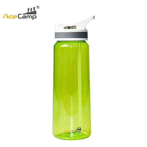 AceCamp TRITAN Kids Wate Bottle for Toddlers100% BPA-Free Odor-Free Plastic Water Bottle with Straw Travel Colorful Water Bottle with Straw for Hiking/Camping/Back to School,(Green-800ml) ()