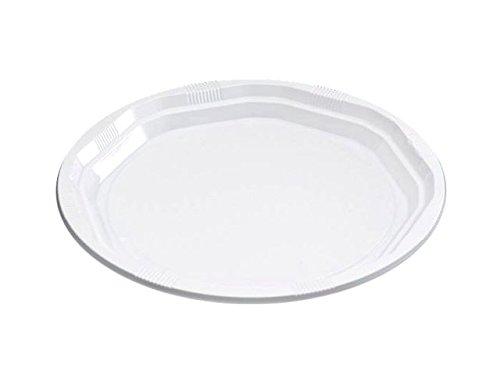 Lote de 300 Platos Desechables de Plástico Blanco Grandes ...