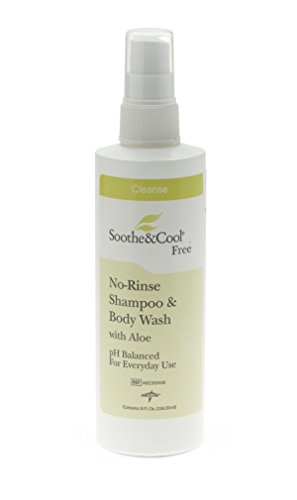 Medline Soothe and Cool No Rinse Shampoo and Body Wash, 8 Fluid Ounce, 12 Count (Medline Wash)