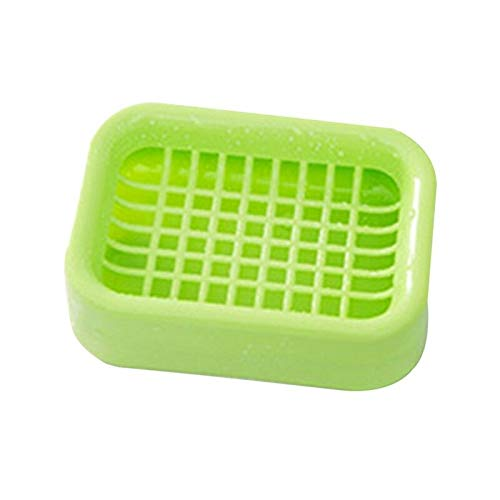 Ameglia Bathroom Dual Layer Soap Dish Holder Bath Shower Tray Sponge Drain Storage Rack (Color - Light Green)