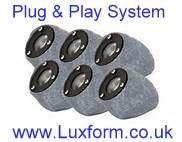Luxform Low Voltage Garden Rock Lights 6 SET Plug Play