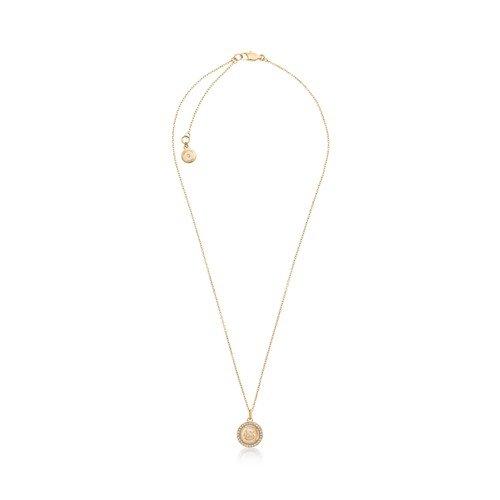 Michael Kors MK Monogram Gold Tone Pendant Necklace,18