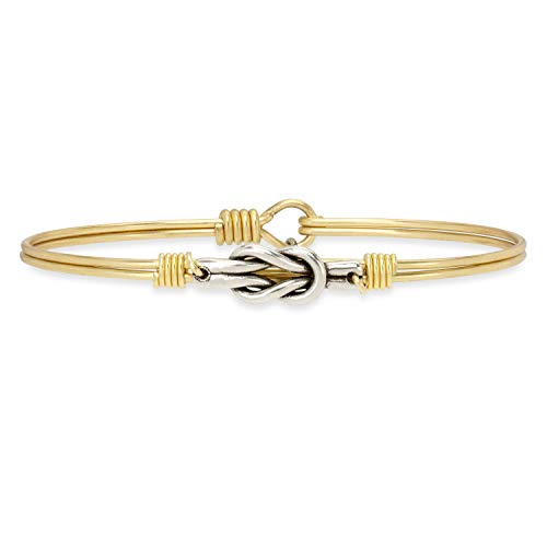 Luca + Danni Love Knot Bangle Bracelet - Petite/Brass Tone