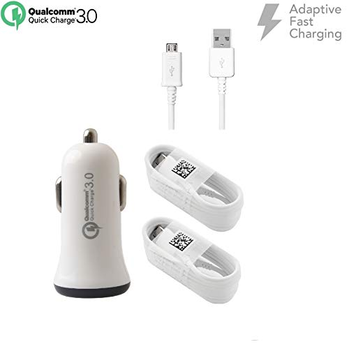 - Adaptive Fast Charger Kit for LG Phoenix Plus/Harmony 2 Devices - [Car Charger + 5 FT Micro USB Cable] - AFC uses Dual voltages for up to 50% Faster Charging! - White
