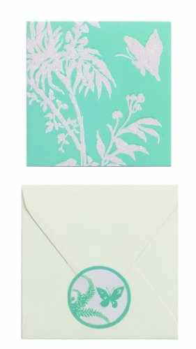 The Gift Wrap Company Florence Broadhurst Collection 2-Count 2.25-Inch Enclosure Cards, Tropical Floral ()