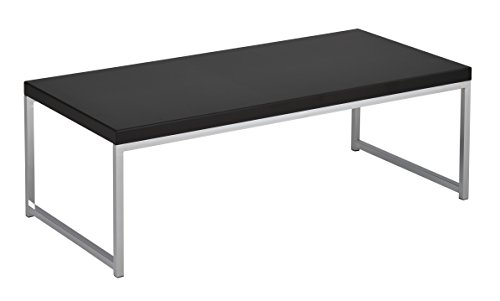 AVE SIX WST12-BK Wall Street Coffee Table