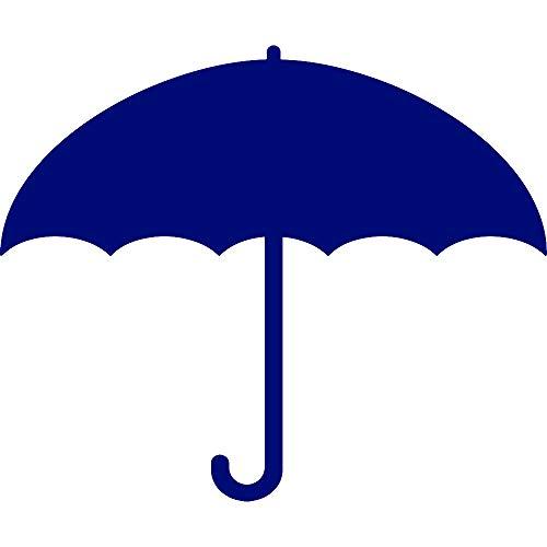 ANGDEST Umbrella Silhouette (Navy Blue) (Set of 2) Premium Waterproof Vinyl Decal Stickers for Laptop Phone Accessory Helmet Car Window Bumper Mug Tuber Cup Door Wall -