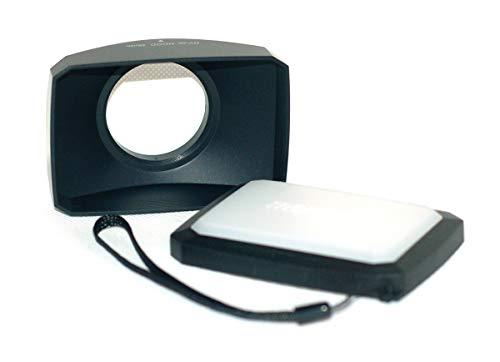 (46mm 16:9 Screw Mount Rectangular Wide Angle Lens Hood + W/B Cap for 46mm Sony Panasonic JVC Olympus Fuji Camcorders)