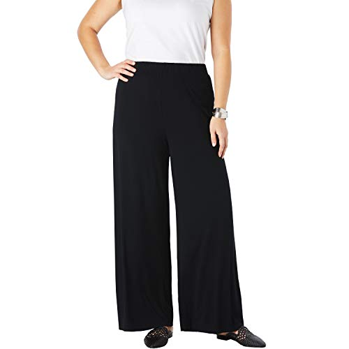 (Jessica London Women's Plus Size Palazzo Pants - Black,)