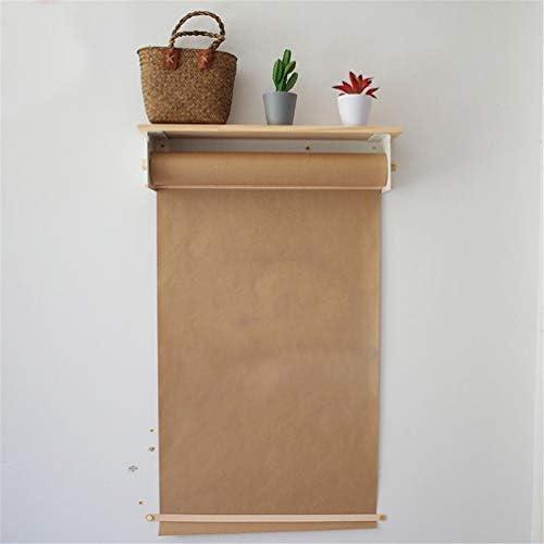 INS-Creative Büro-Wand-Konzept, 1 Spendehalter, 1 120G Zeichnungsrolle Kraftpapier, Wiederverwendbar, 1 Papierhalter - Passen Studio-Zeichenbrett & Gekritzel Zeichenbrett,45cm/17.7In