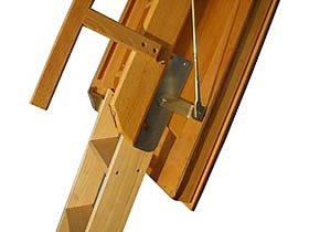 Habitat y jardín – Escalera plegable (madera escamatic Standard Pedestal