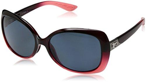 Costa Del Mar Sea Fan Sunglasses, Pomegranate Fade, Gray 580P Lens by Costa Del Mar
