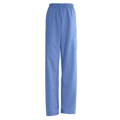 Medline AngelStat Unisex Elastic Waist Cargo Scrub Pant, Large, Ceil Blue