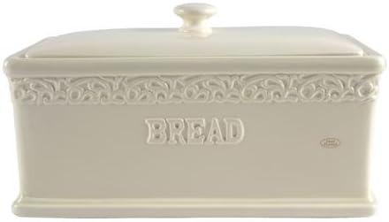 Shabby Vintage Chic Cream Ornate Bread Bin Amazon Co Uk Kitchen Home