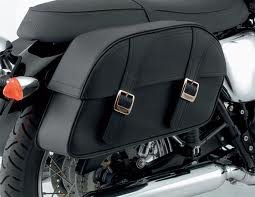 Triumph Bonneville Leather Saddlebag Kit Large A9528028, used for sale  Delivered anywhere in USA