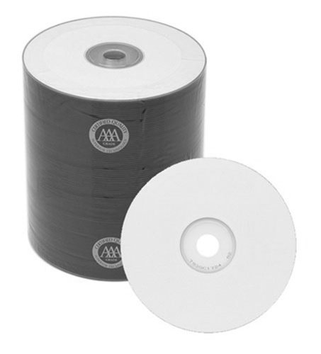 500 Spin-X Diamond Certified 48x CD-R 80min 700MB White Inkjet Printable by SpinX