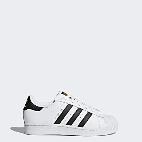 adidas Originals Junior's Superstar Sneaker, White/Core Black/Core White, 4.5