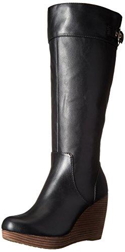 Dr. Scholl's Women's Heathrow Boot, Black/Wide Calf, 8.5 M U