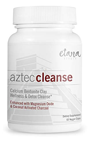 Aztec Cleanse – Detox Support & Wellness Cleanse - 60 vcaps | Professionally Formulated, Enhanced with Calcium Bentonite Clay, Organic Coconut Activated Charcoal, Magnesium Oxide & Organic Herbs