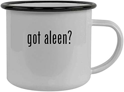 got aleen? - Stainless Steel 12oz Camping Mug, Black