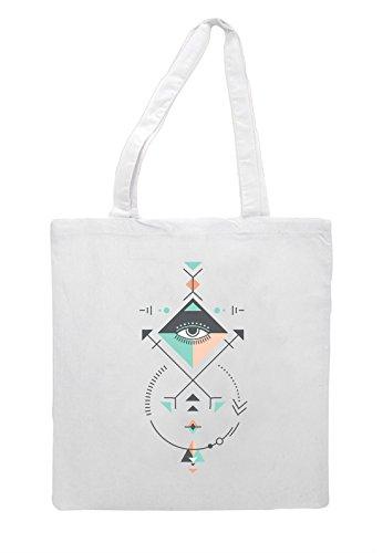 Bag White Ancient Aztec Tote Geometric Shopper Seven Pattern Shape Sacred 60pHzwqq