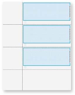 EGP Premium Herringbone Personal Size Blank Check