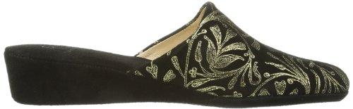 Zapatillas Para Talla Hhc 10 De schwarz schwarz Negro Negro Hans Herrmann 36 Color Casa Cuero Collection 030699 Mujer OwgXqz