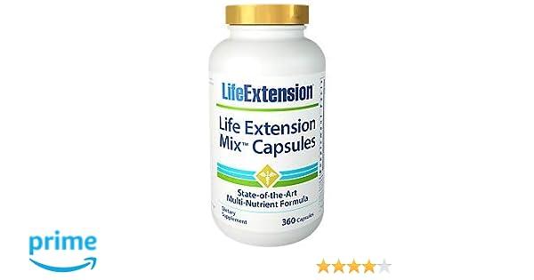 Life Extension Life Extension Mix, 360 Capsules: Amazon.es: Salud y cuidado personal