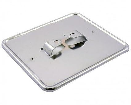 Kennzeichenhalter Platte in Chrom 145x125 mm
