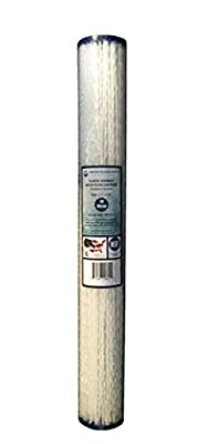 """Water Filters Depot (WFD) WF-PE2020 2.5""""x20"""" 20 Micron Pleated Sediment Water Filter Cartridge by, Fits in 20"""" Standard Size Housings of Filter Systems"""