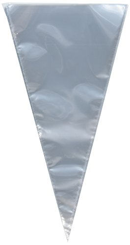 Shaped Treat Bag - Clear Cellophane Cone Shaped Treat & Favor Bags - 100 Bags,12 inches