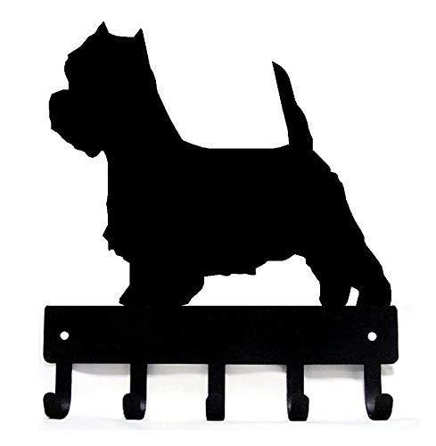 The Metal Peddler West Highland Terrier Dog Leash Hooks & Hanger - Large 9 inch Wide