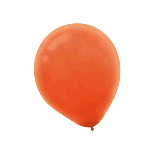 (Solid Color Latex Balloons | Orange Peel | Pack of 100 | Party Decor)