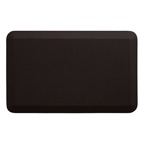 """NewLife by GelPro Anti-Fatigue Designer Comfort Kitchen Floor Mat, 20x32"""", Leather Grain Truffle Stain Resistant Surface with 3/4"""" Thick Ergo-foam Core for Health and Wellness from NewLife by GelPro"""