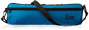 Paititi Brand New C Flute Hard Case Cover w Side Pocket/Handle/Strap Sky Blue Color
