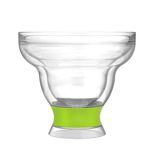HOST Margarita Freeze, Set of 1, 12 Ounce Active Cooling Gel Cocktail Glasses, Insulated Frozen Cup, Green, BPA-Free…