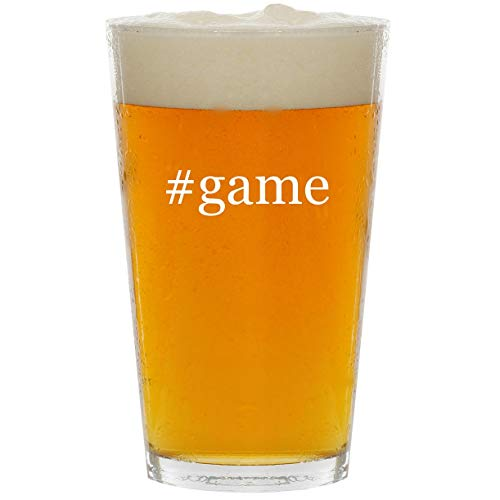 #game - Glass Hashtag 16oz Beer Pint (Friv Best Racing Games)