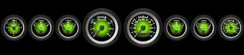 GAR1102ZMXHACCC Aurora Instruments Pulsar Green Speedometer Gauge